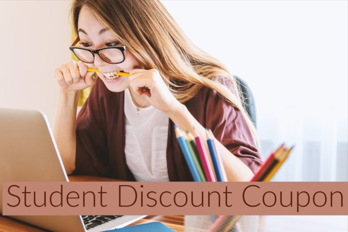 Student discount coupon