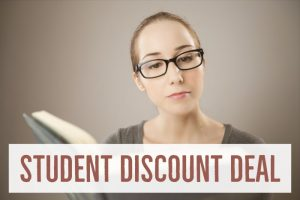 Student discount deal